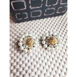 Beautiful beaded clip on earrings